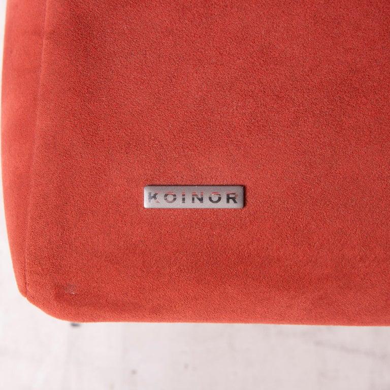 Contemporary Koinor Rossini Fabric Sofa Orange Two-Seater Function For Sale