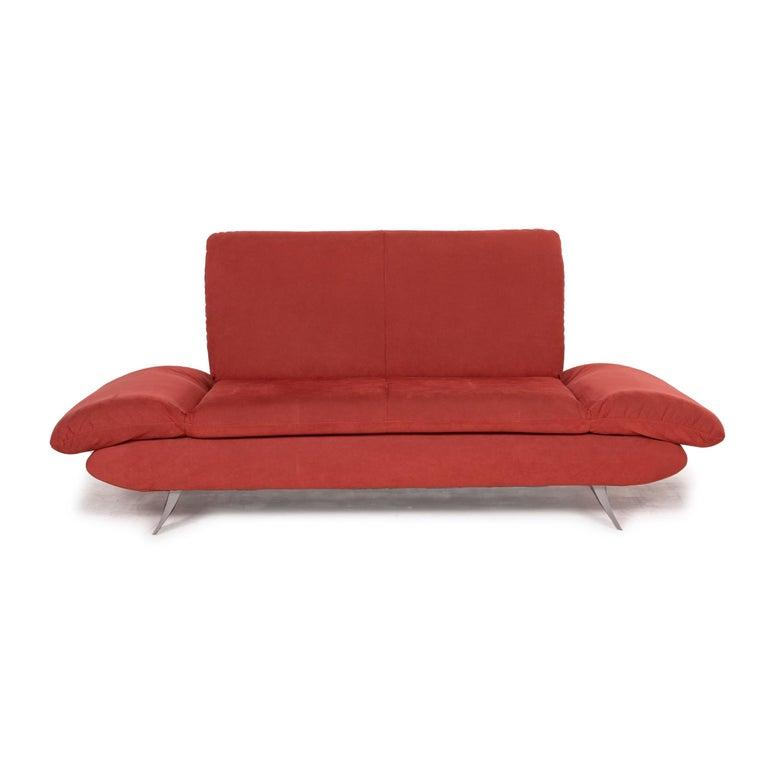 Koinor Rossini Fabric Sofa Orange Two-Seater Function For Sale 2