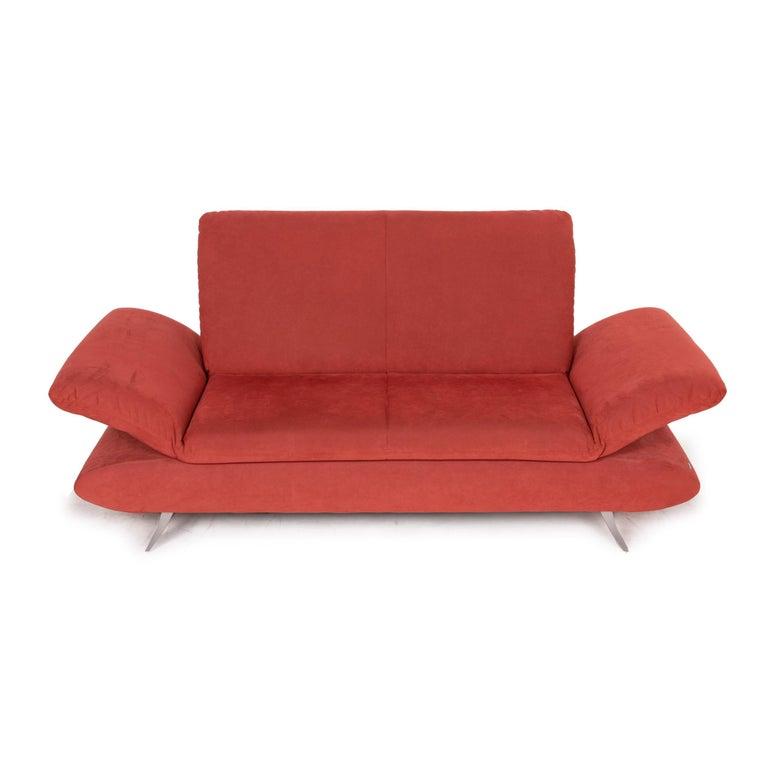 Koinor Rossini Fabric Sofa Orange Two-Seater Function For Sale 3