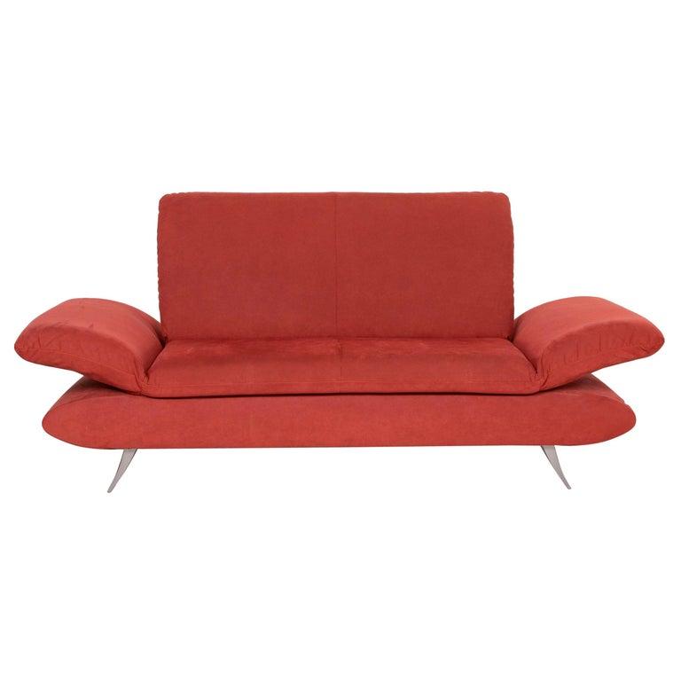 Koinor Rossini Fabric Sofa Orange Two-Seater Function For Sale