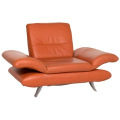 Koinor Rossini Leather Armchair Terracotta Orange Function