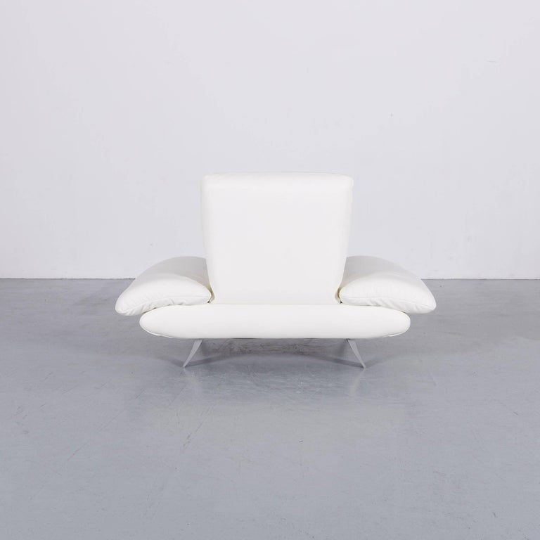 Koinor Rossini Leather Armchair White One-Seat 1