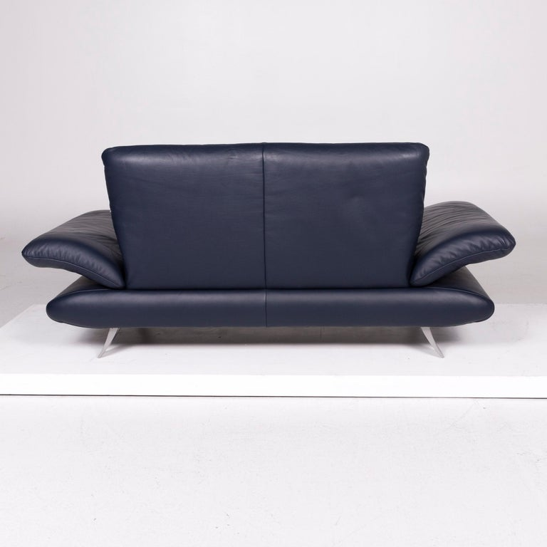 Koinor Rossini Leather Sofa Blue Two Seat At 1stdibs