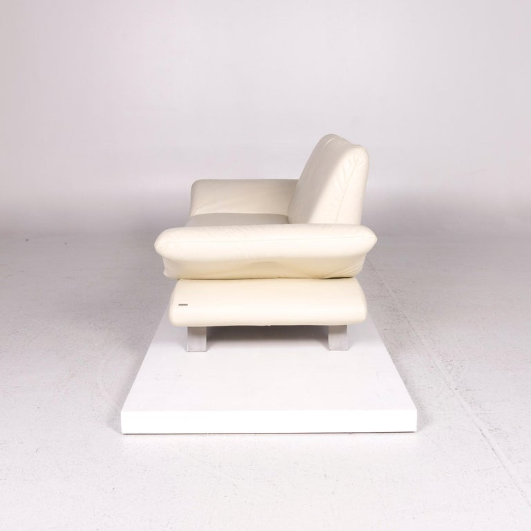 Koinor Rossini Leather Sofa Cream Two-Seat Couch For Sale 5