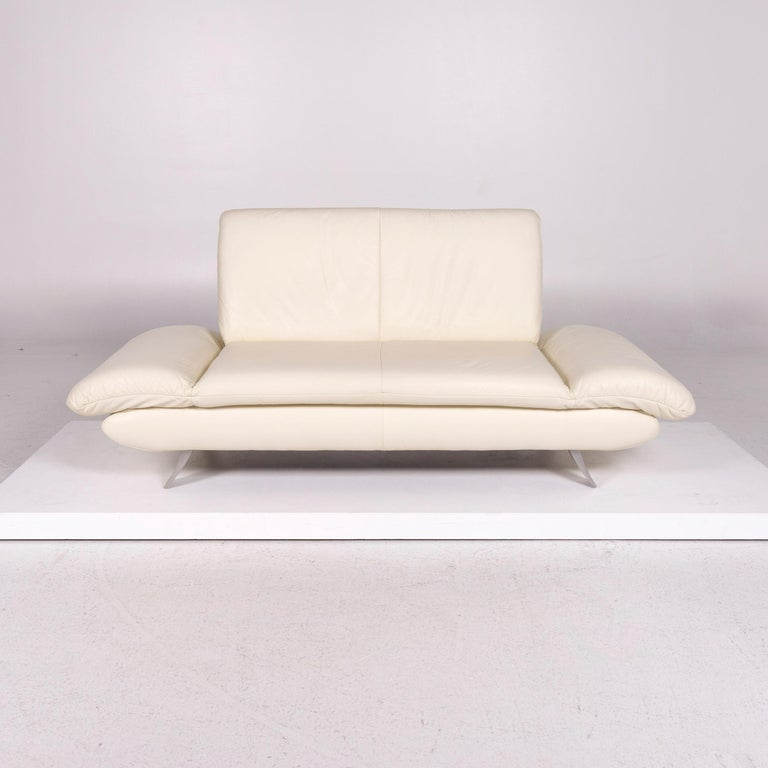 We bring to you a Koinor Rossini leather sofa cream two-seat couch.      Product measurements in centimeters:    Depth 86 Width 190 Height 83 Seat-height 40 Rest-height 40 Seat-depth 40 Seat-width 108 Back-height 45.