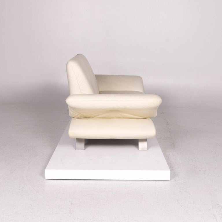 Koinor Rossini Leather Sofa Cream Two-Seat Couch For Sale 3
