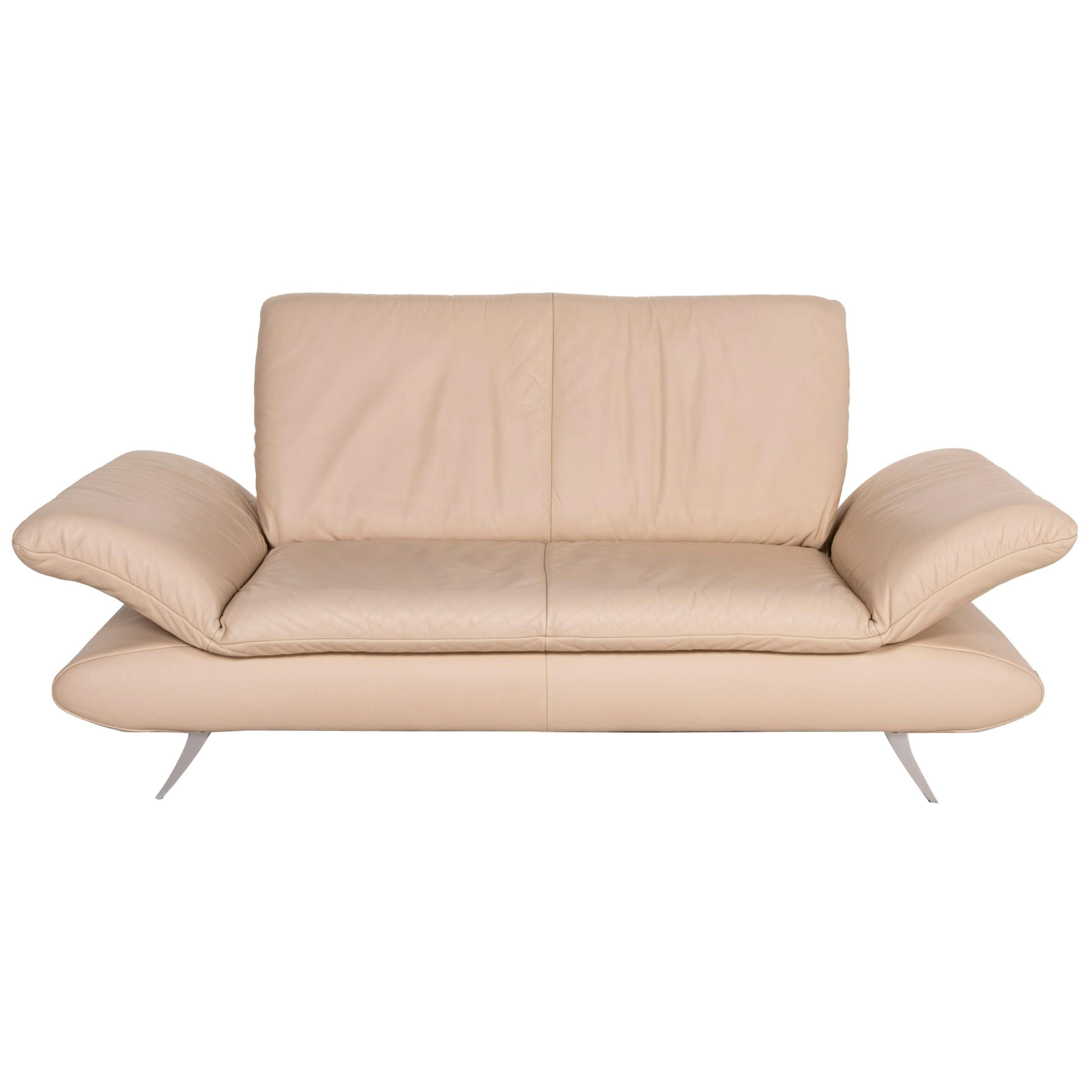 Koinor Rossini Leather Sofa Cream Two-Seater