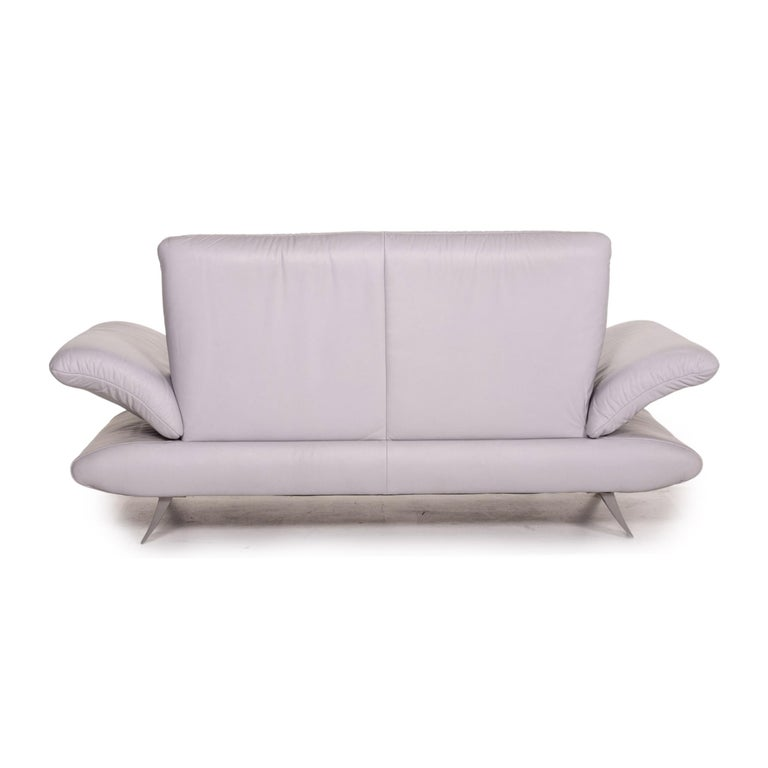 Koinor Rossini Leather Sofa Gray Gray Blue Two-Seat Function Couch 5