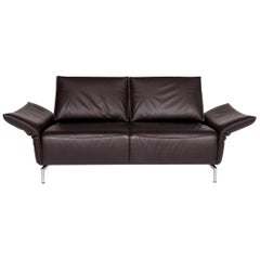 Koinor Vanda Leather Sofa Brown Two-Seat Function Couch
