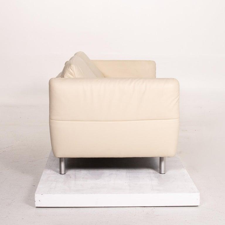 Koinor Vittoria Leather Sofa Cream Two-Seat Couch 4