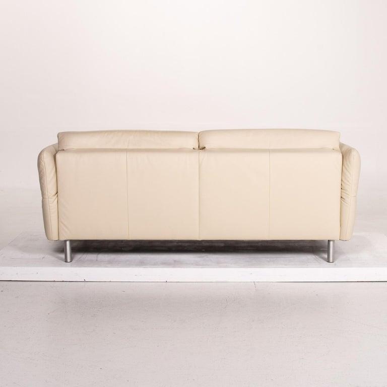 Koinor Vittoria Leather Sofa Cream Two-Seat Couch 5