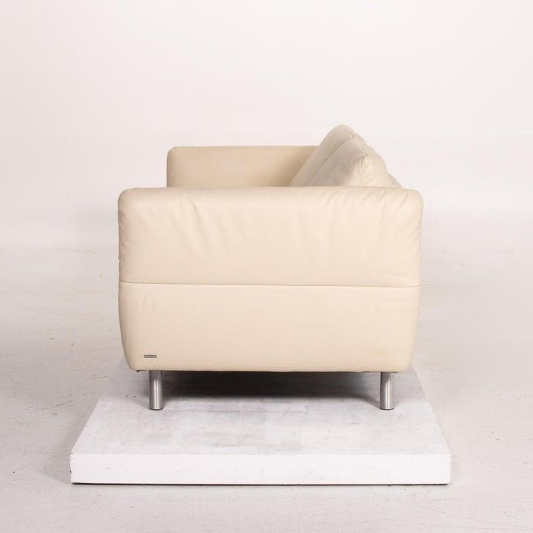 Koinor Vittoria Leather Sofa Cream Two-Seat Couch 6