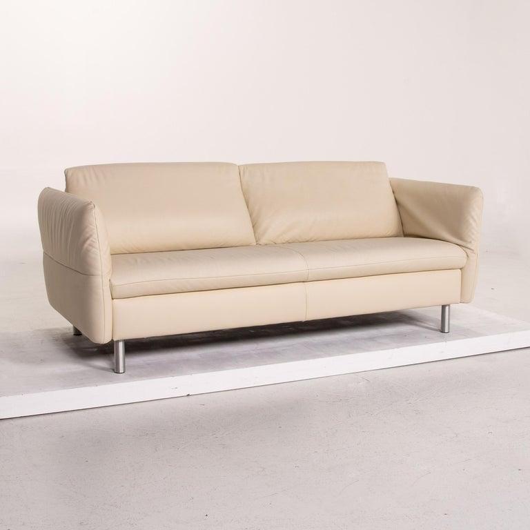 Koinor Vittoria Leather Sofa Cream Two-Seat Couch 2