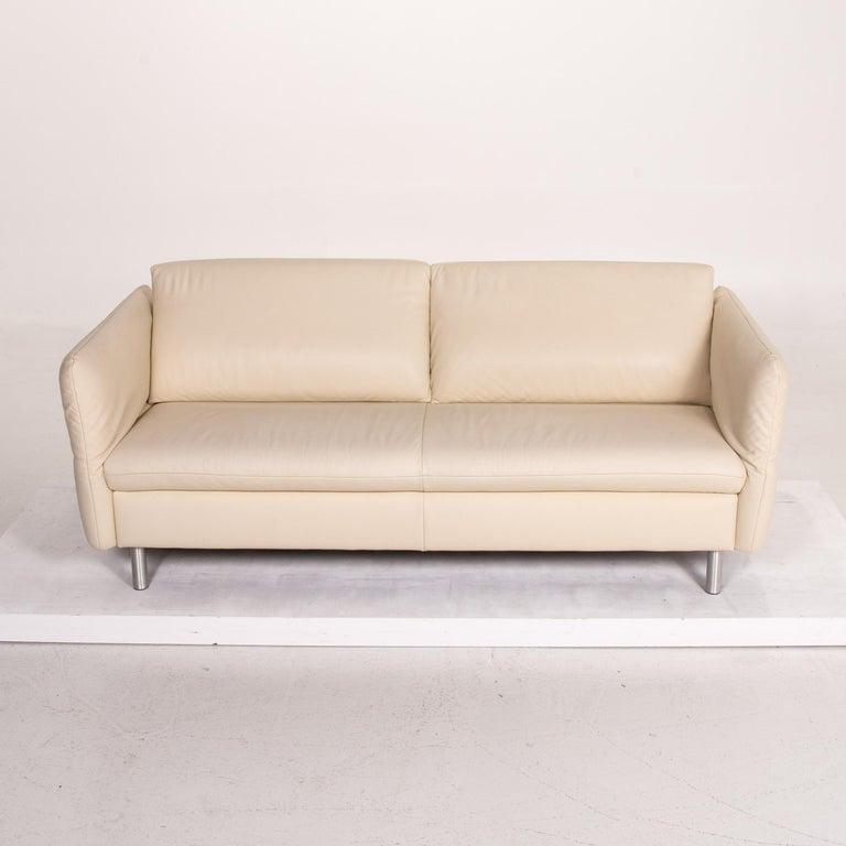 Koinor Vittoria Leather Sofa Cream Two-Seat Couch 3
