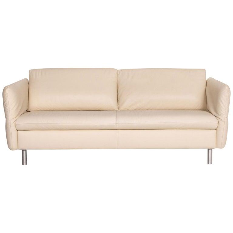 Koinor Vittoria Leather Sofa Cream Two-Seat Couch
