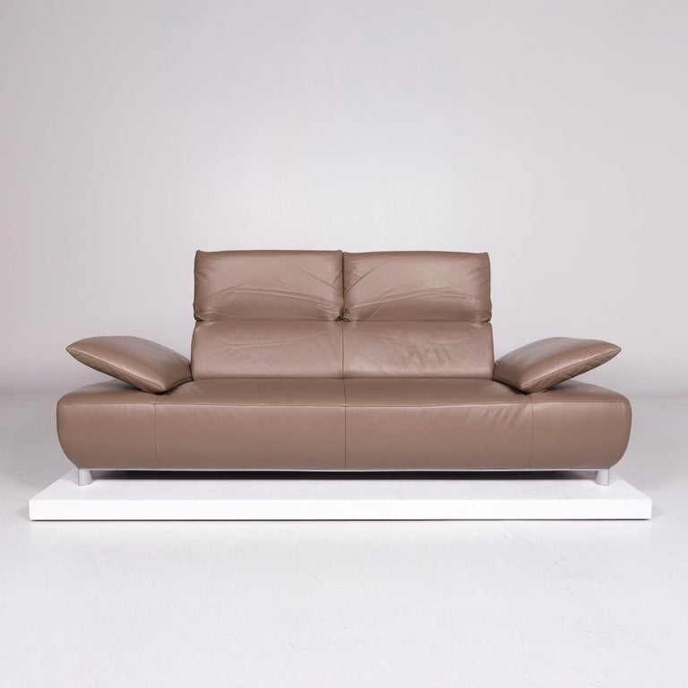 Stupendous Koinor Volare Leather Sofa Brown Mud Three Seat Function Couch Pdpeps Interior Chair Design Pdpepsorg