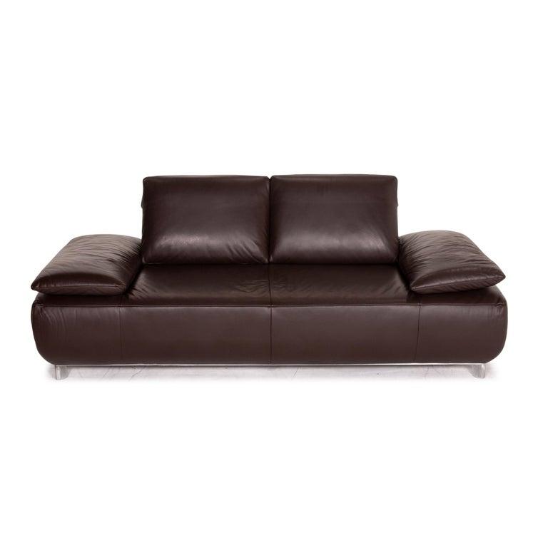 Koinor Volare Leather Sofa Set Brown Dark Brown 1 Three-Seat 1 Two-Seat 7