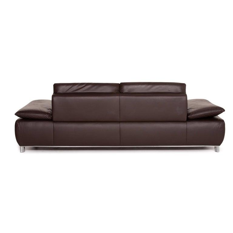 Koinor Volare Leather Sofa Set Brown Dark Brown 1 Three-Seat 1 Two-Seat 8