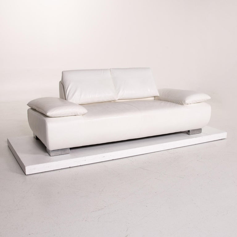 Koinor Volare Leather Sofa White Two-Seat Function Couch 4