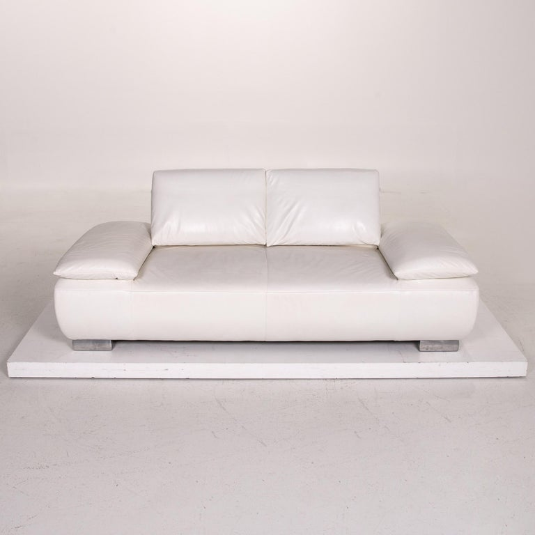 Koinor Volare Leather Sofa White Two-Seat Function Couch 5