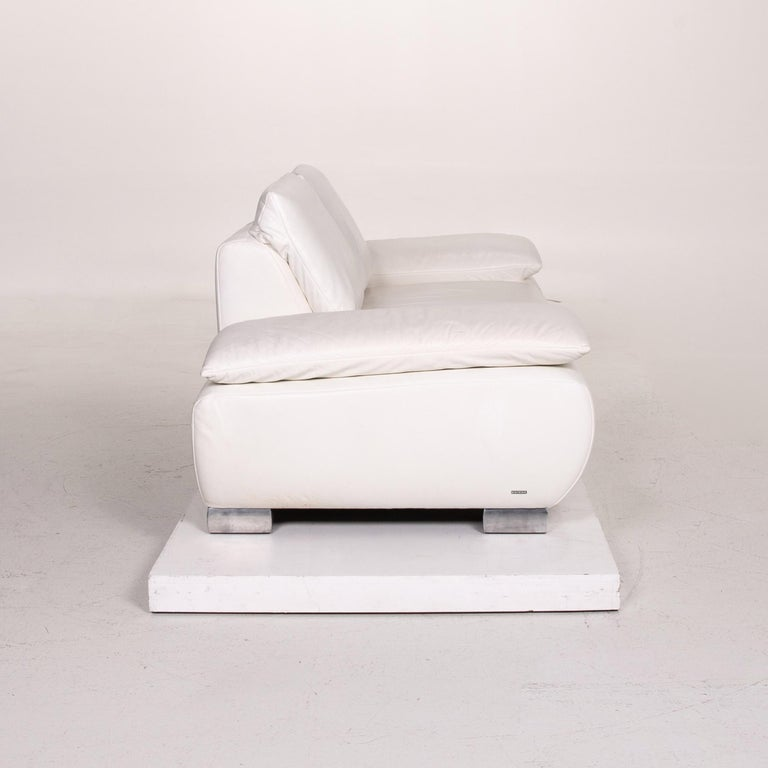 Koinor Volare Leather Sofa White Two-Seat Function Couch 6
