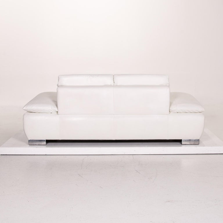 Koinor Volare Leather Sofa White Two-Seat Function Couch 7