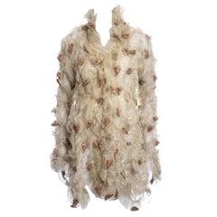 Koji Tatsuno chiffon smocked jacket with incased dried roses, fw 1991