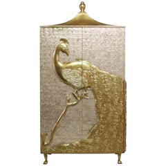 Koket Camilia Armoire in Mother of Pearl in Ivory