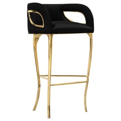 Koket Chandra Bar Stool in Velvet