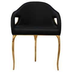 Koket Chandra Dining Chair in Velvet and Polished Brass
