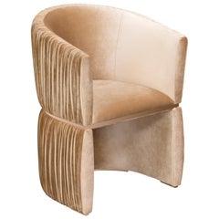 Koket Manschette Stuhl aus Samt