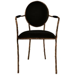 Koket Enchanted ii Dining Chair in Velvet and Brass