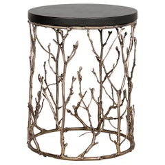 Koket Enchanted Side Table in Synthetic Leather Top
