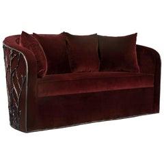 Koket verzauberte Sofa aus Samt