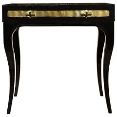Koket Exotica Nightstand in Polished Brass Top