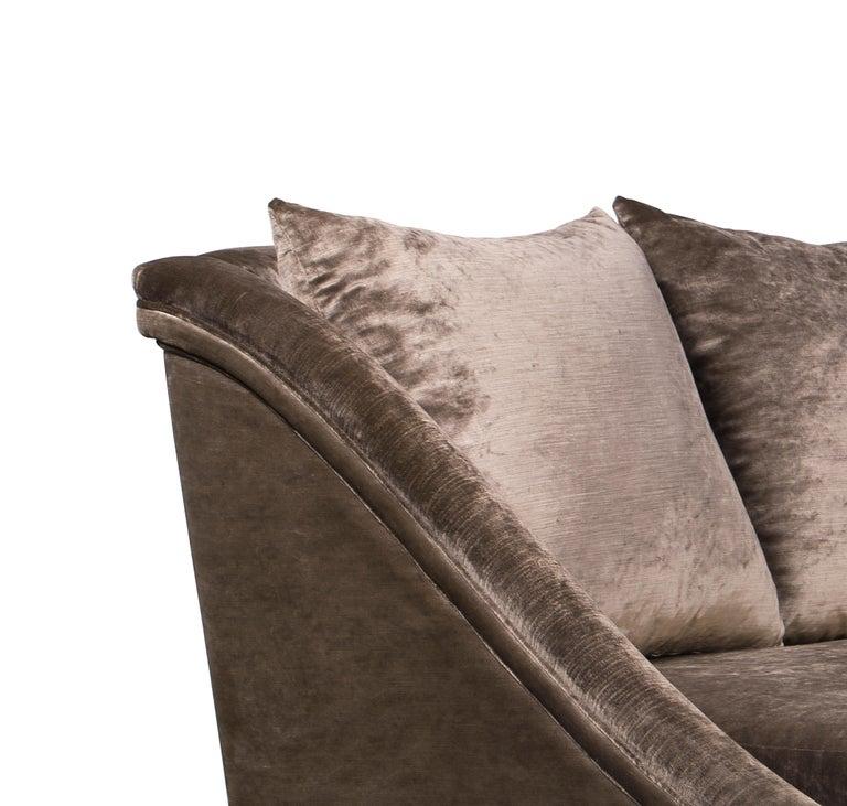 Koket Geisha Curved Sofa in Cream Velvet For Sale 1