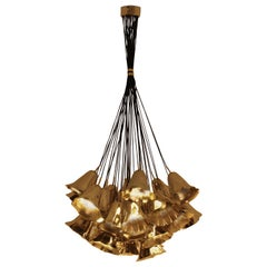Koket Gia I Chandelier in Gold Plated Brass