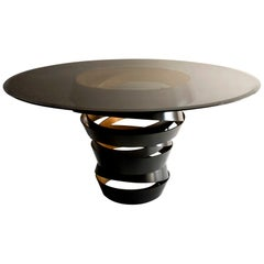 Koket Intuition Dining Table in Tempered Smoked Glass Top