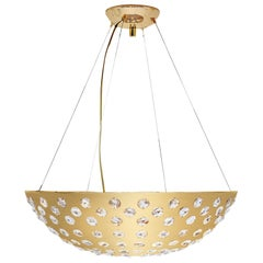 Koket Kasehsiah Chandelier in Polished Brass and Glass