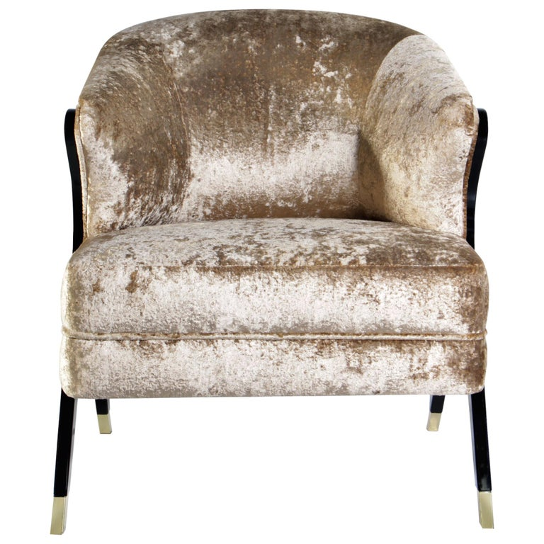 koket naomi chair in velvet for sale at 1stdibs. Black Bedroom Furniture Sets. Home Design Ideas
