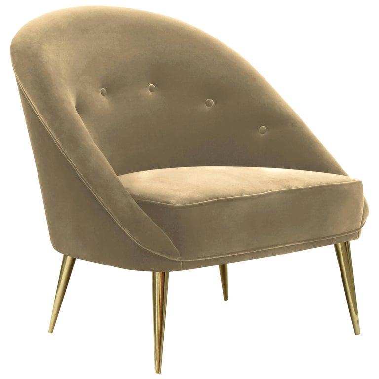 Koket Nessa Stuhl aus Satin 1