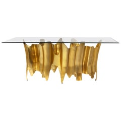 Koket Obssedia Dining Table in Tempered Smoked Glass