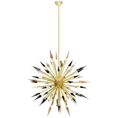 Koket Outburst Chandelier in Satin Brass