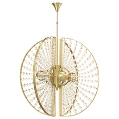 Koket Roxy Chandelier in Brass and Glass
