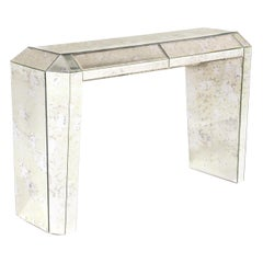 Koket Tamara Console Table in Iridescent Caramel with High Gloss Finish