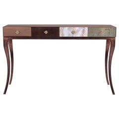 Koket Untamed Console Table in Iridescent Caramel with High Gloss Finish
