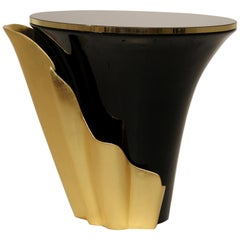 Koket Yasmine Side Table in Nero Marquina Marble Top