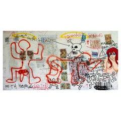 "Kokian Painting, ""  Keith Harring bad trip "" White, 2010"