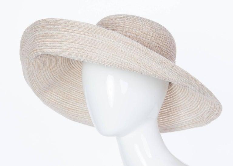 948f34e9176bf 1990s Kokin New York Large Brim Taupe Sun Hat
