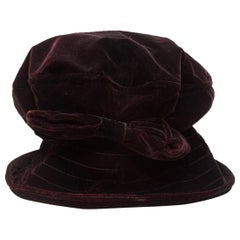 Kokin Wine & Black Velvet Hat